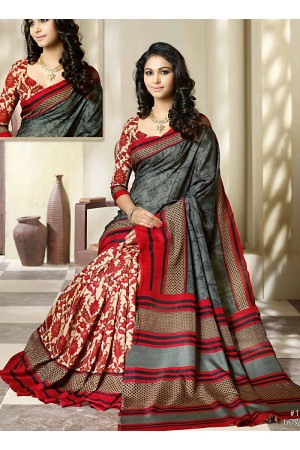Goodness Multi Colors Khadi Silk Saree
