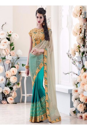 Amazing Embroidered Work Lycra Designer Saree