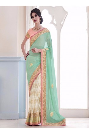 Praiseworthy Lycra Patch Border Work Designer Saree