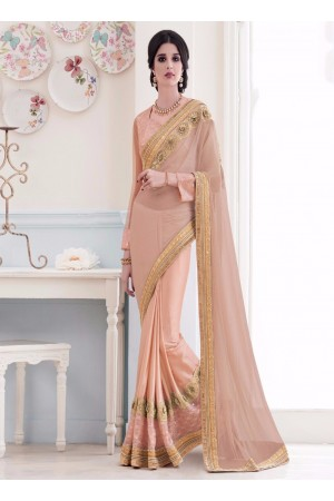 Classy Net Embroidered Work Designer Saree