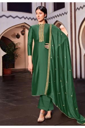 Green cotton silk palazzo suit 1881