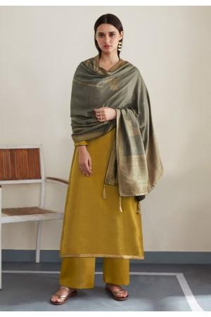 Mustard silk palazzo suit 8448