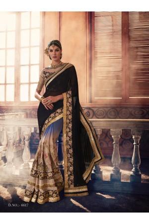 Party-wear-Blue-Black-KilimBeige-color-saree