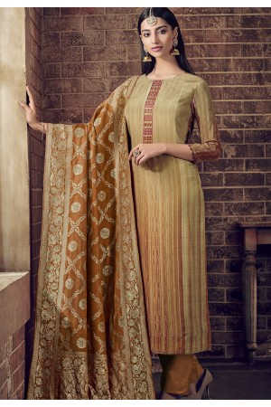 brown shade viscose silk digital printed trouser suit 895