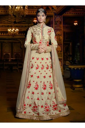 Offwhite color wedding wear lehenga choli