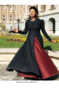 Bollywood Style Divyanka tripathi black taffeta lehenga kameez