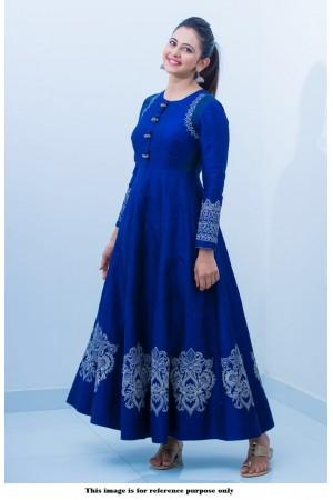 Bollywood Style Rakul Preet Singh banglori silk anarkali