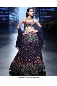 Bollywood Style Navy blue silk lakme fashion lehenga choli