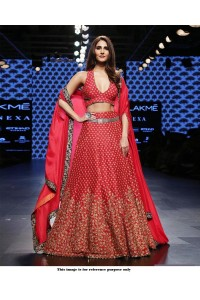 Bollywood Style Red color silk lakme fashion lehenga choli