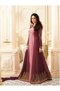Kareena Kapoor Pink and Wine georgette anarkali