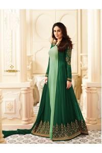 Kareena Kapoor Pista green and dark green georgette anarkali