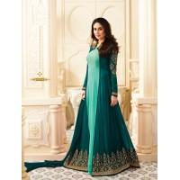 Kareena Kapoor Sea green and turquoise  georgette anarkali kameez