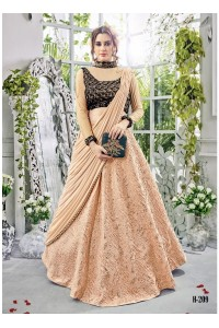 Party wear beige georgette lehenga 209