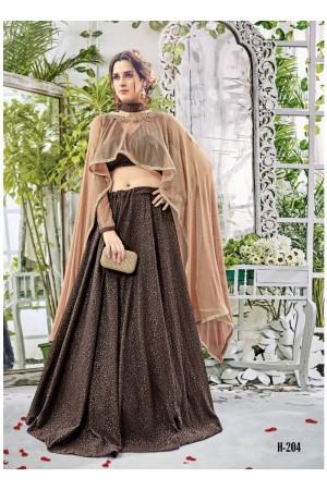 Party wear brown georgette lehenga 204