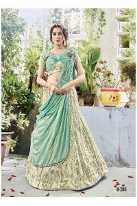 Party wear green georgette lehenga 203