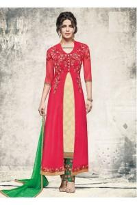 Priyanka chopra Gajri color jacket style straight cut salwar kameez