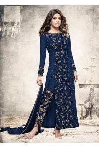 Priyanka chopra Navy blue georgette straight cut salwar kameez