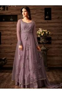Sonal chauhan Grey color netted wedding anarkali 4807