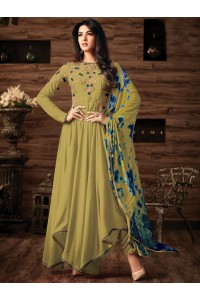 Sonal chauhan Olive Green georgette anarkali 4808