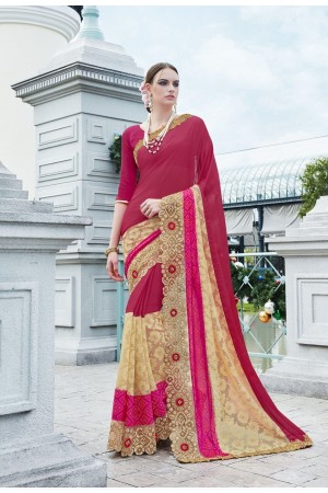 Party-wear-Cherry-Pink2-color-saree