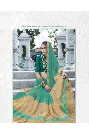 Party-wear-Seagreen3-color-saree