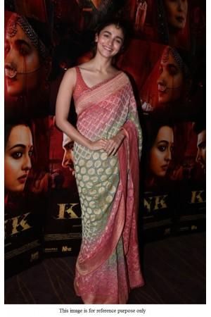Bollywood Alia bhat Kalank satin dgital print saree
