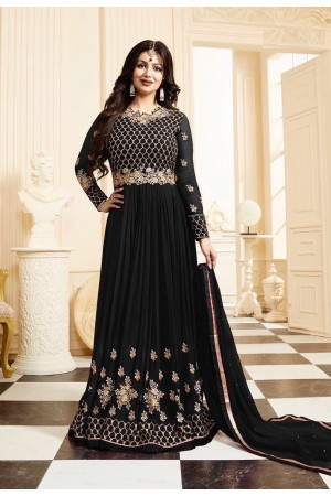 Ayesha Takia black color georgette anarkali