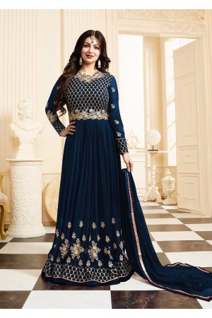 Ayesha Takia blue color georgette anarkali