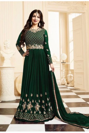 Ayesha Takia green color georgette anarkali