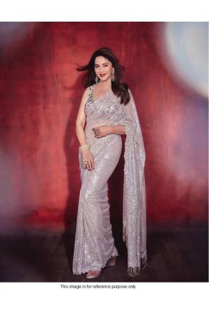 Bollywood Madhuri Dixit inspired sequins saree