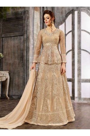 Off White Net color wedding wear Ghagra Choli