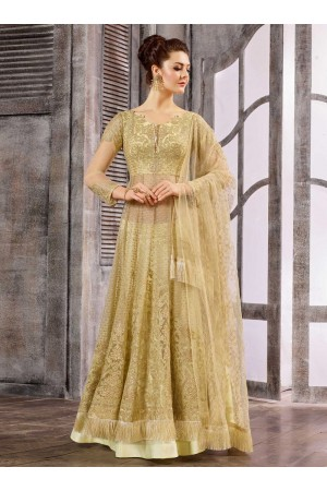 Off White color net wedding wear Ghagra Choli