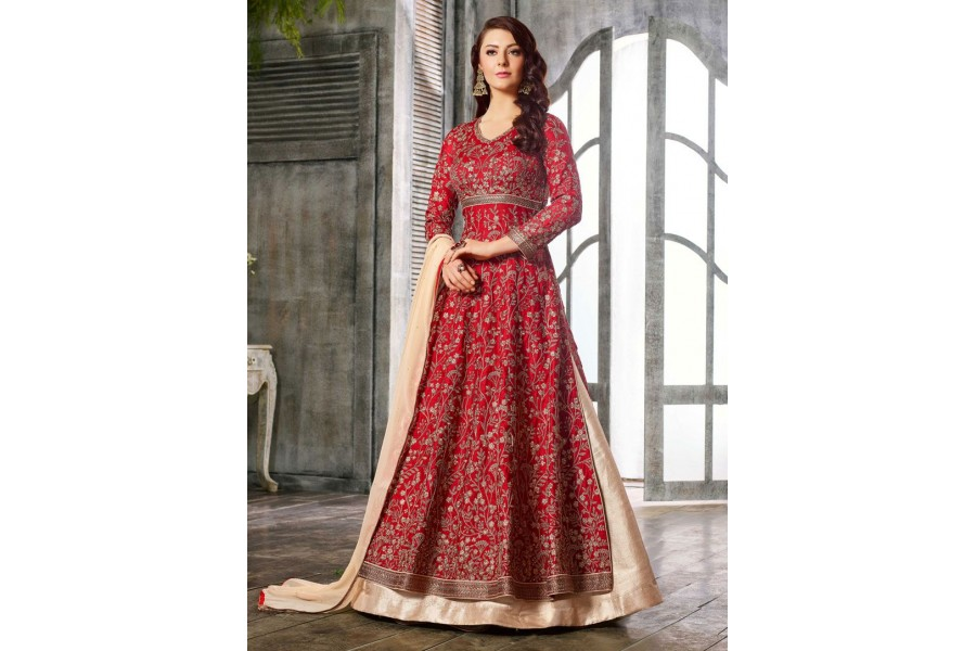 2bcaeb8d39 Buy Red color Albela Satin wedding wear Ghagra Choli in UK, USA and Canada