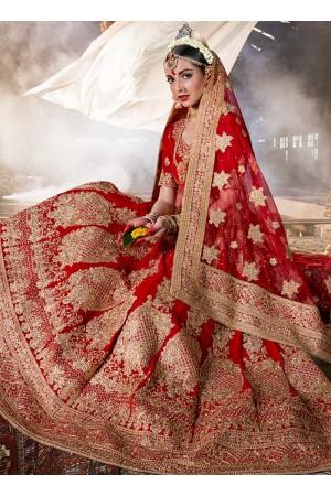 maroon-velvet-wedding-wear-patch-work-a-line-lehenga-342