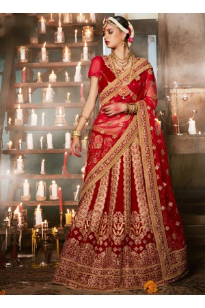 maroon-velvet-wedding-wear-patch-work-a-line-lehenga-346