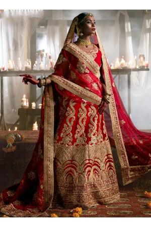 maroon-velvet-wedding-wear-patch-work-a-line-lehenga-347