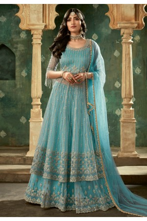 Aqua net embroidered indo western lehenga choli 78001