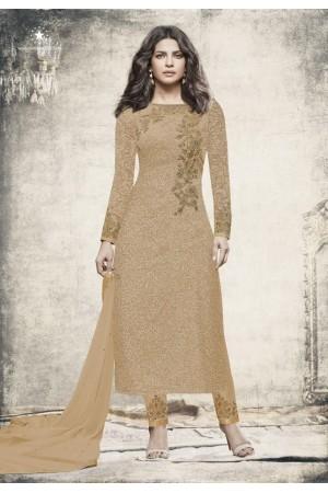 Priyanka chopra Beige color straight cut salwar kameez