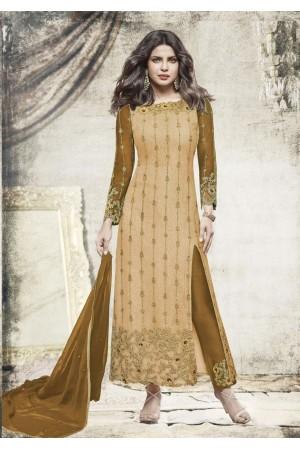 Priyanka chopra green yellow color straight cut salwar kameez