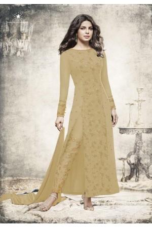 Priyanka chopra yellow Georgette straight cut salwar kameez