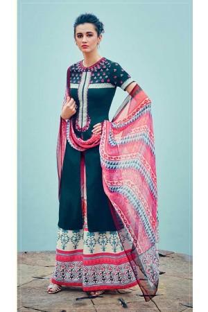 Ombre color cotton palazzo salwar kameez