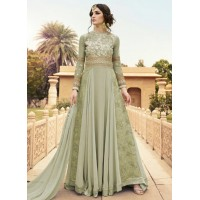 Light green color georgette party wear anarkali