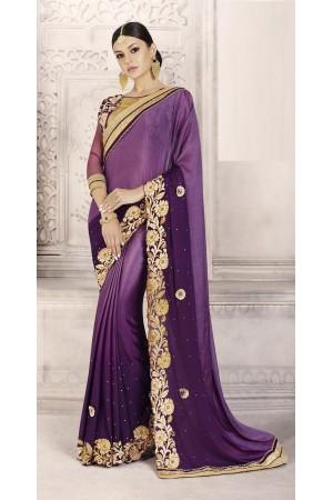 Party-wear-purple-color-saree