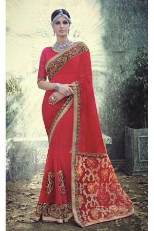 Party-wear-Red-10-color-saree