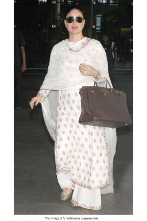 Bollywood Kareena Kapoor inspired white kurta palazzo