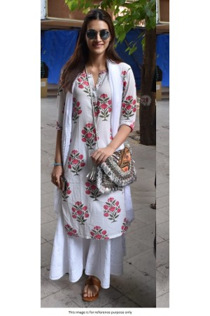Bollywood Kriti Sanon White kurta Palazzo