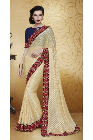 Party-wear-Beige-2-color-saree