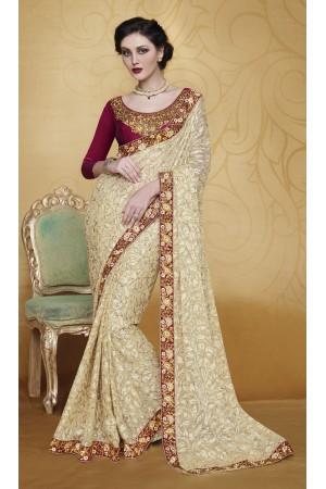 Party-wear-Beige-4-color-saree