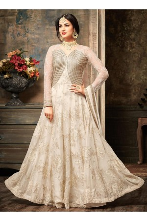 Sonal Chauhan Off White Anarkali Suit 5104
