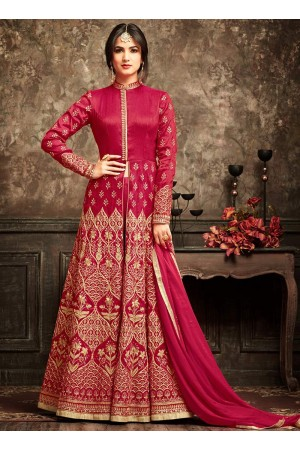 Sonal Chauhan Pink Anarkali Suit 5101